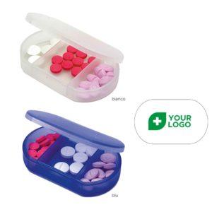 SM SunniMix 3pcs Pillola Contenitore di Alluminio Medicina Storage Portapillole Portachiavi