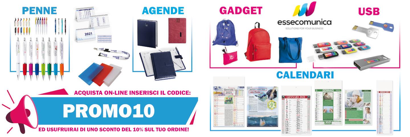 10% di Sconto su qualunque acquisto: Penne, Agende, Gadget, Pendrive, Calendari